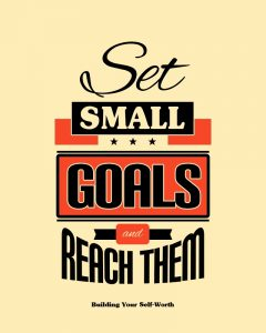 Set Small Goals and Reach Them